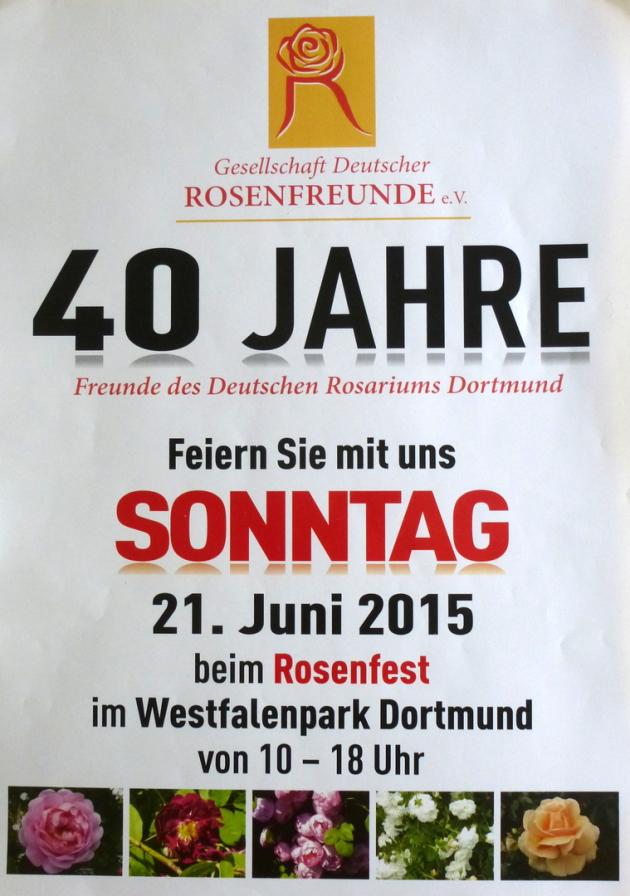 Freunde Des Deutschen Rosariums Dortmund Grf 40jahriges Jubilaum 15
